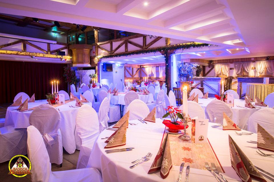 Hochzeitstische im Badisch Brauhus
