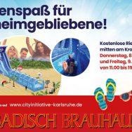 Riesenwasserrutsche am Kronenplatz