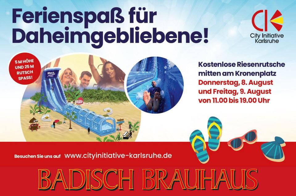 Riesenwasserrtuschte am Kronenplatz 2019